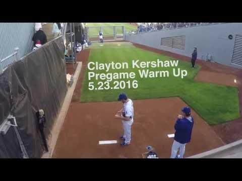 Clayton Kershaw Pregame Warm Up - Dodgers - GoPro
