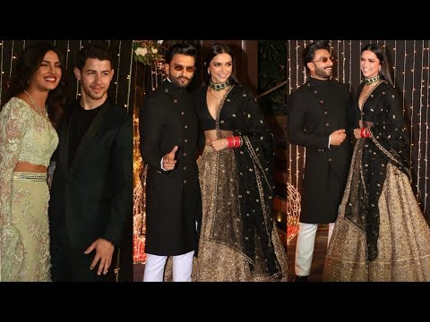 Deepika Padukone and Ranveer Singh grand entry at Priyanka and Nick Jonas wedding reception