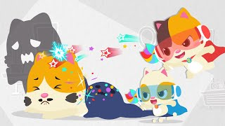 Pahlawan Kecil Bayi Kucing Sangat Hebat | Lagu Anak-anak | BabyBus Bahasa Indonesia