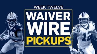 Week 12 Waiver Wire Pickups (Fantasy Football)