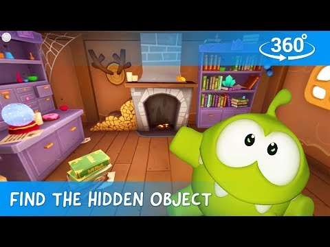 Find Hidden Objects in 360 - Om Nom Stories: Mysterious House