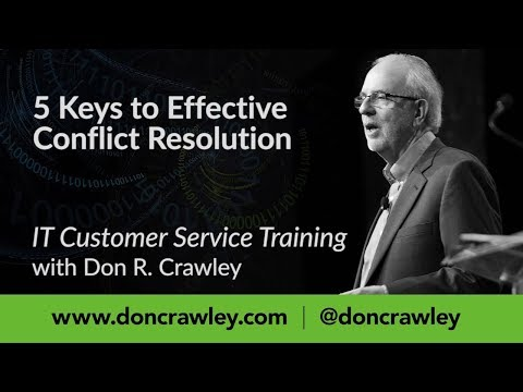 5 Keys to Effective Conflict Resolution:  Customer Service Training 101