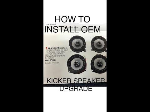 2015 17 subaru wrx kicker speaker oem upgrade and how to. Black Bedroom Furniture Sets. Home Design Ideas