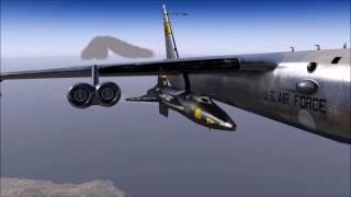 X-Plane 11 Beta - X-15 | B-52 Drop into KEDW (VFR)