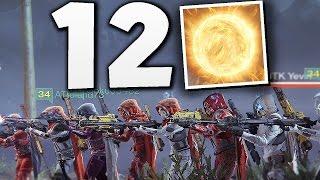 Destiny - 12 GOLDEN GUNS PVP FIGHT !!