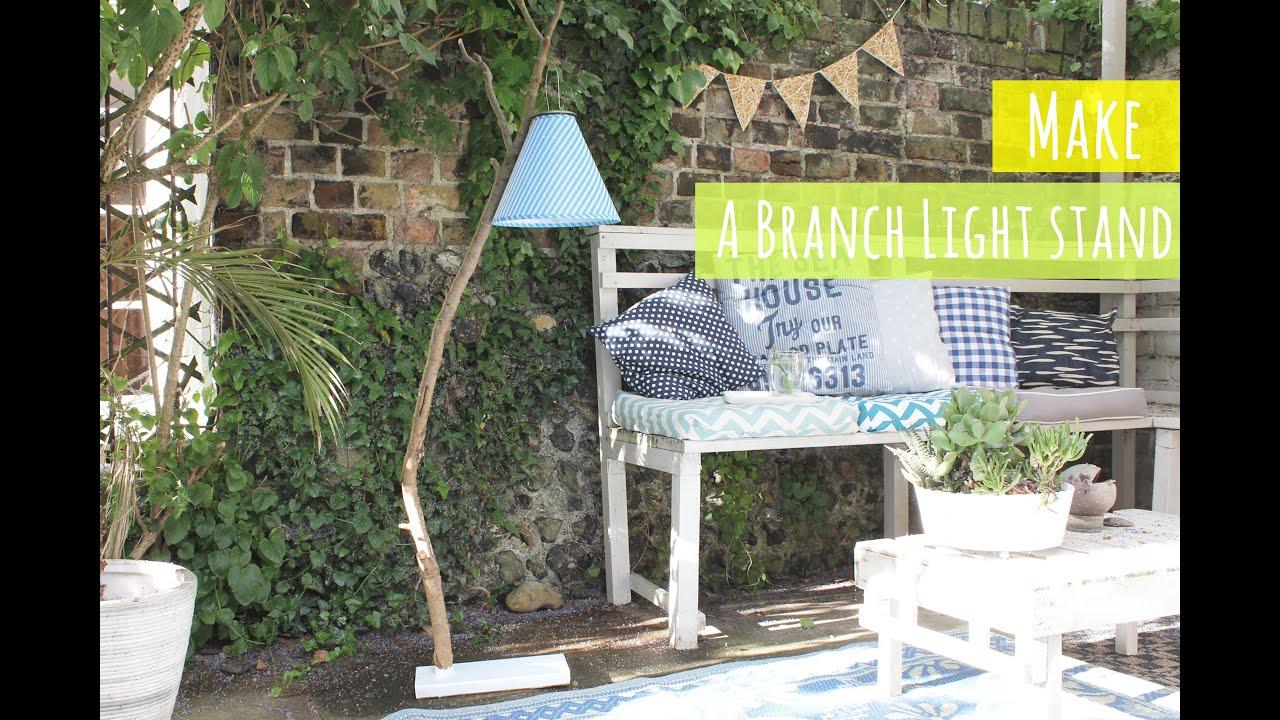 Make A Branch Light Stand