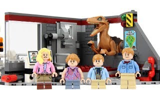 LEGO Jurassic Park Velociraptor Chase 75932 Review!