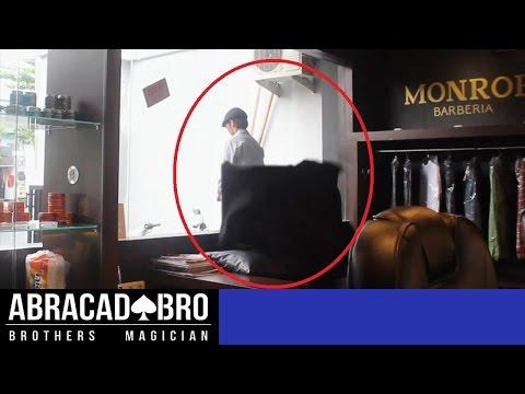 Man Walks Thru Glass Caught On Tape / Camera - abracadaBRO Best Street Magic Tricks & Prank