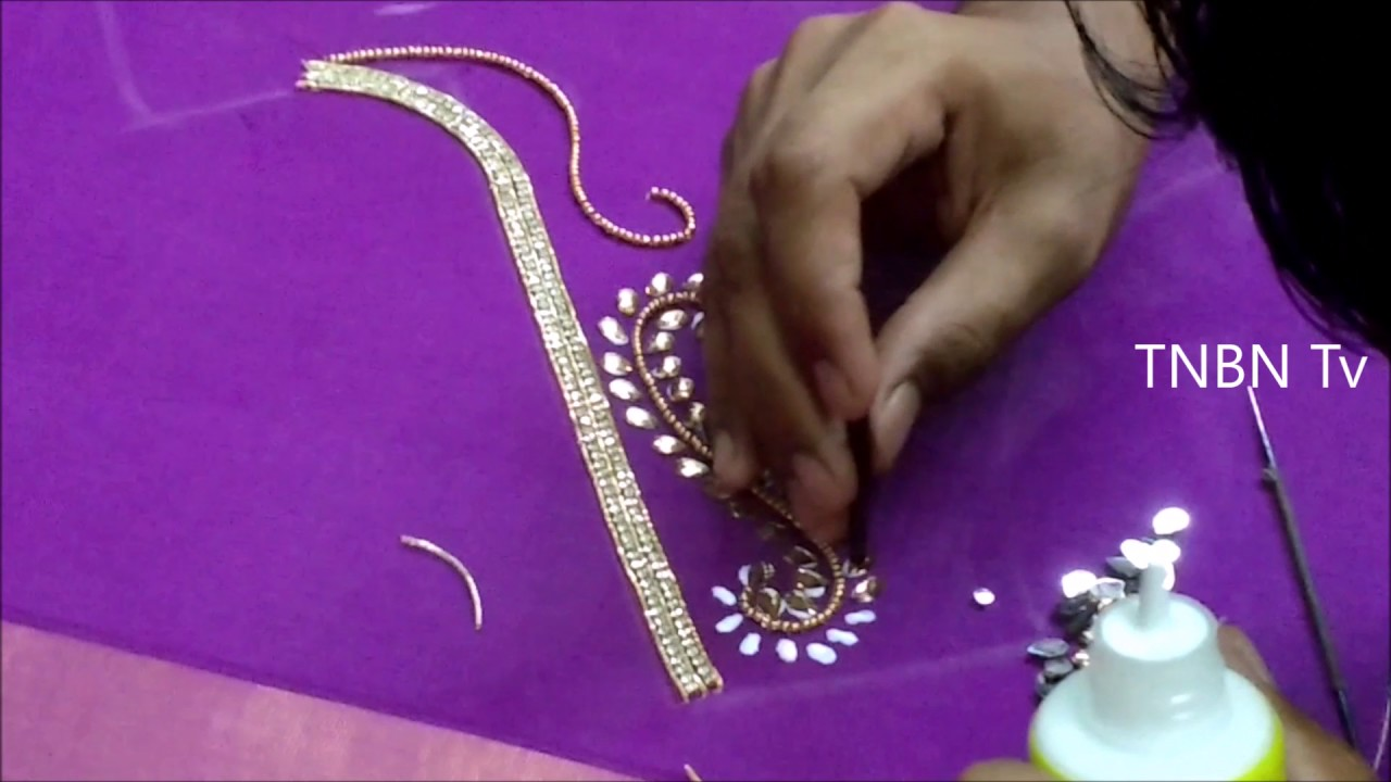 Simple Maggam Work Blouse Designs Hand Embroidery Designs Basic
