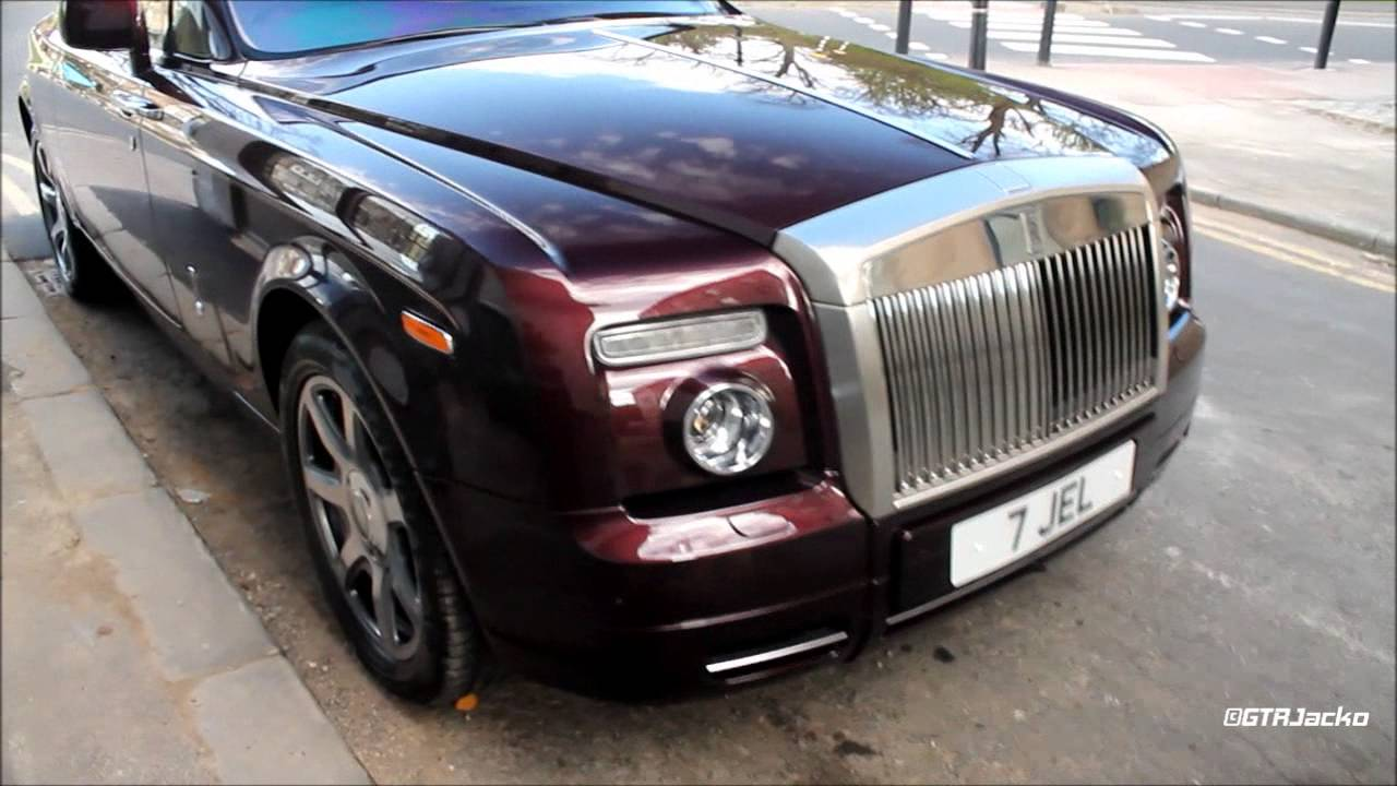 Burgundy RollsRoyce Phantom Coup  Parked up  YouTube