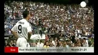 Oficjalna prezentacja Cristiano Ronaldo na Santiago Bernabeu- 6 lipiec 2009