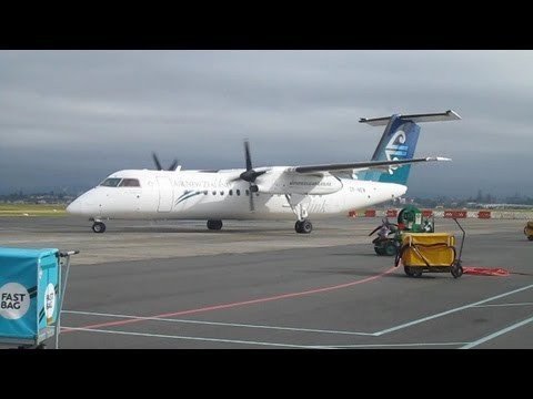 Air New Zealand ► Bombardier Q300 ► Startup - Taxi - Takeoff ✈ Tauranga Airport