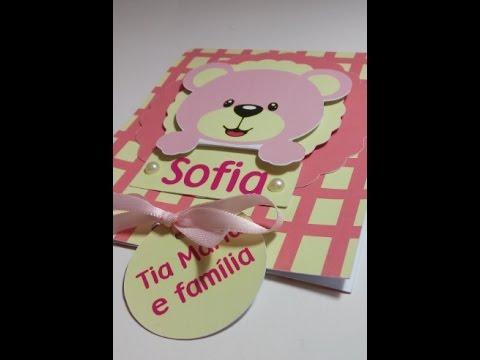 Convite Infantil URSA ROSA
