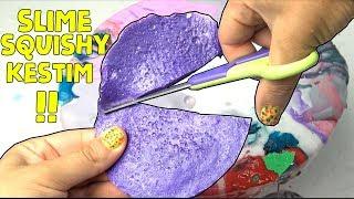 Çöplük Slime içinde Squishy Kesmek! MIXING ALL MY SLIME SLIME SMOOTHIE Slime Tamiri#3 bidünyaoyuncak