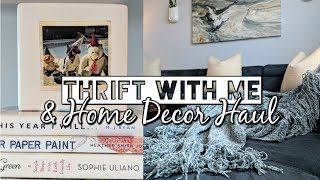 Thrift with Me & Home Decor Haul-Styling Thrifted Decor in my Home