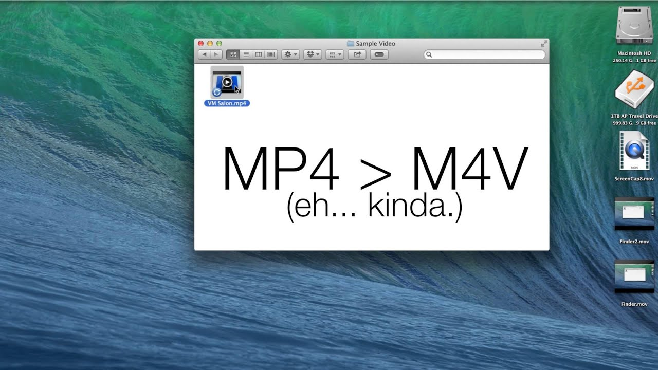 QUICKTIME PRO TIP - How to Convert MOV  M4V Files to MP4