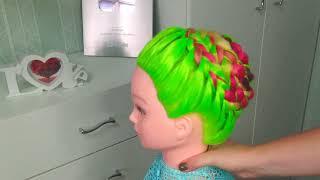 Плетение УЛИТКА .Прическа на длинные волосы. Коса по кругу на 1 сентября. Hairstyle for Long Hair