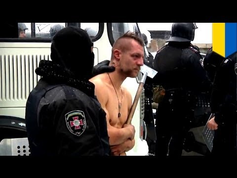 Freezing, naked protester beaten and tormented by Ukrainian special forces