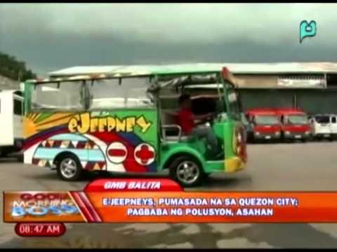 GMB Balita: E-Jeepneys, pumasada na sa Quezon city; Pagbaba ng polusyon, asahan [09|30|14]