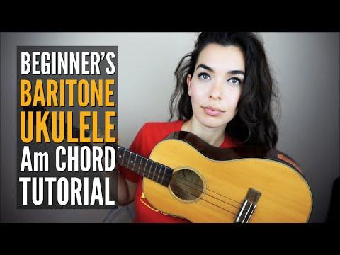 EASY A Minor Chord Tutorial ~ Baritone Ukulele