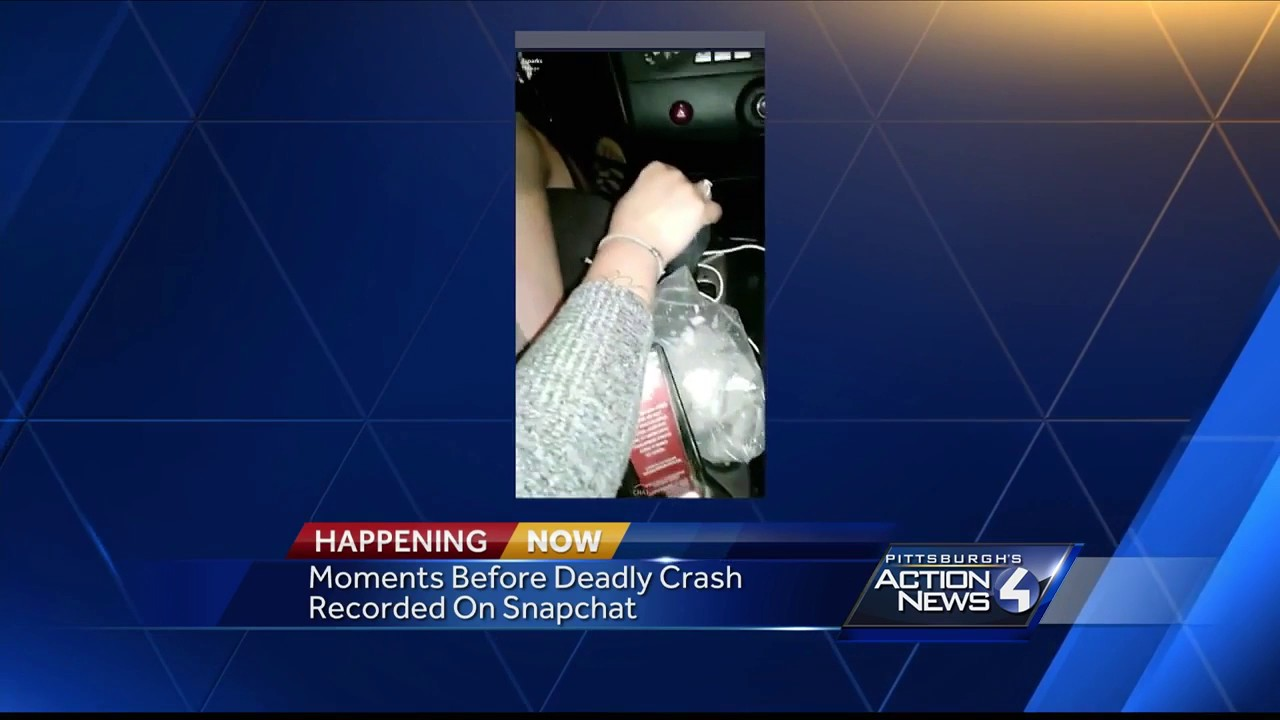 Moments before deadly crash recorded on Snapchat