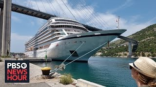 In Europe, business booms when cruise ships arrive -- but is it worth the bother?