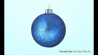 How to Draw a Xmas Sphere With Texture - Narrated