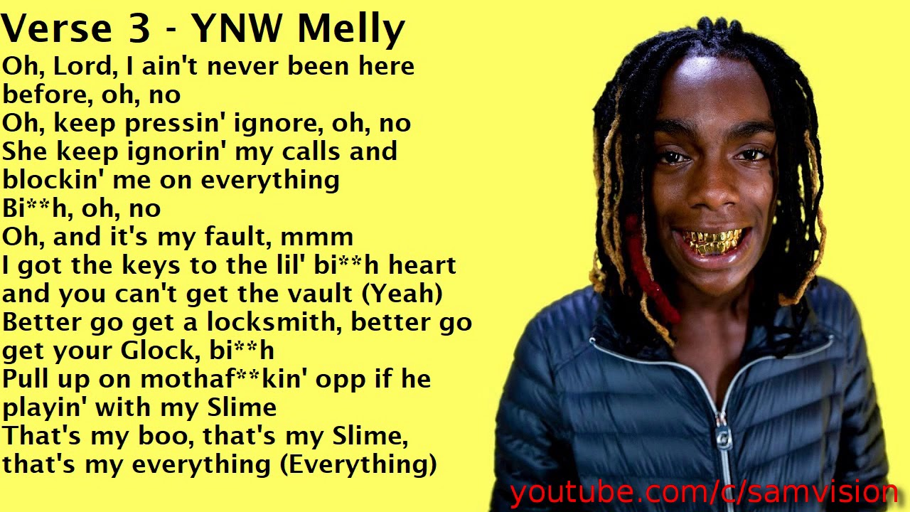 Clean Lyrics YNW Melly Mixed Personalities Ft Kanye