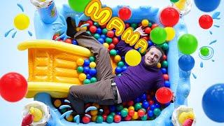 Видео для детей - Супер Детки и приколы в бассейне! - Детские игрушки.