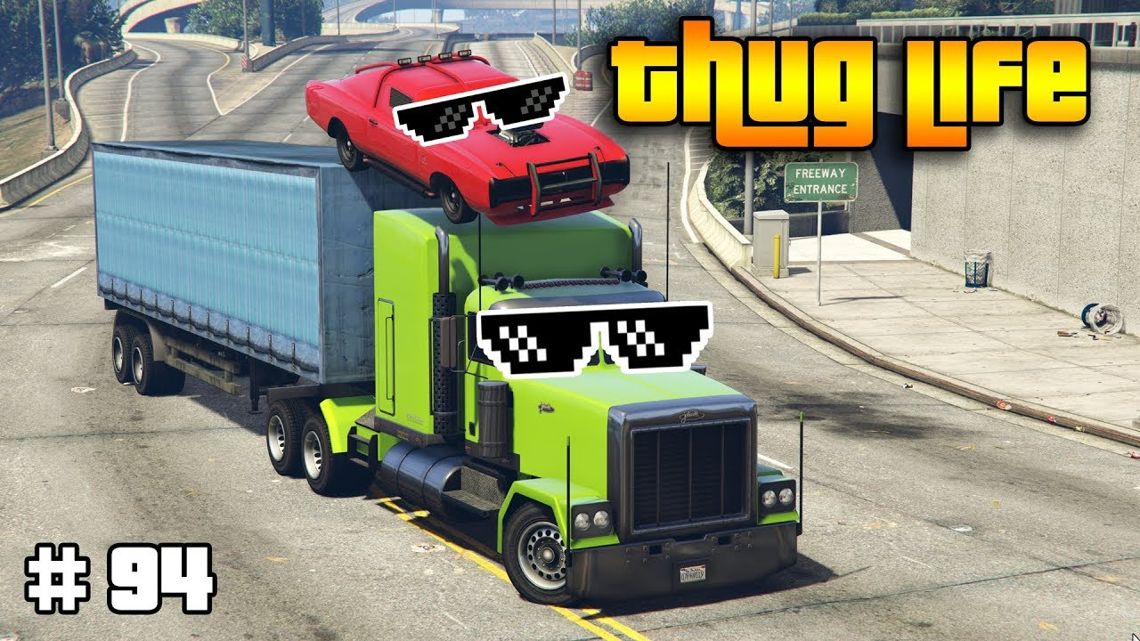 GTA 5 ONLINE : THUG LIFE AND FUNNY MOMENTS (WINS, STUNTS AND FAILS #94)
