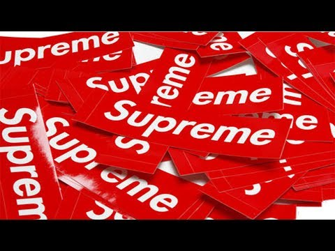 HOW TO GET AUTHENTIC SUPREME STICKERS FOR $5