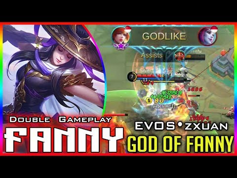 GOD Of Fanny Epic Skin Gameplay [EVOS•zxuan] Mobile Legends Fanny Build & Gameplay