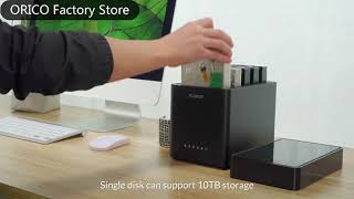 oRICO DS Series 5 Bay Max Hard Drive Enclosure Support for 3.5 inch HDD/SSD