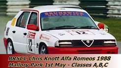 BRSCC Chris Knott Alfa Romeo Championship 1988   Classes A, B & C