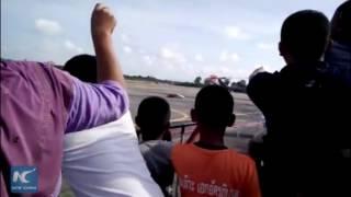 Shocking: Fighter jet crashes at airshow for children in Thailand, pilot dies