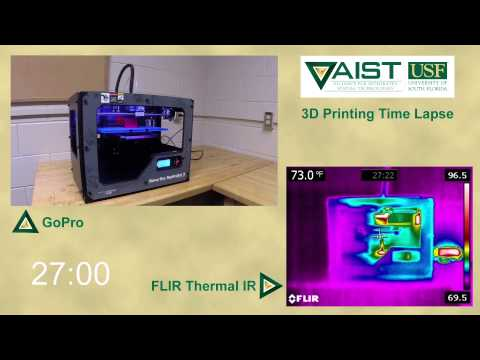 3D Print Time-lapse and Simultaneous Thermal IR Imaging