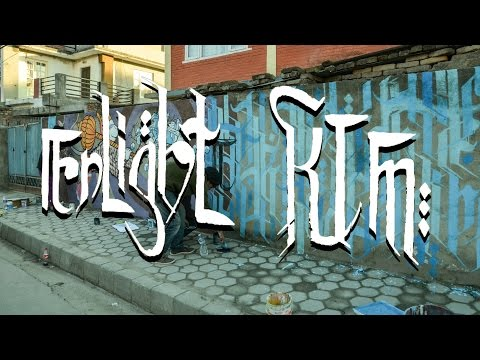 Enlight KTM /// Artlab's Collective Wall in Katmandu, Nepal /// Timelapse Video/// Street Art -