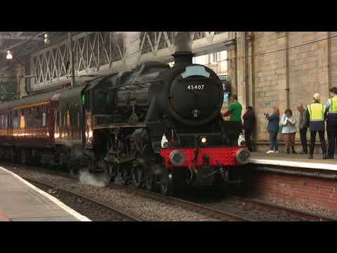 Forth Bridge and Borders Steam Special at Edinburgh Waverley 6th August 2017