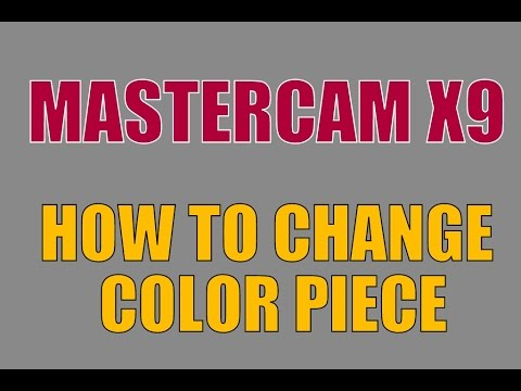 mastercam x9 free basic online tutorial  how to change the piece color