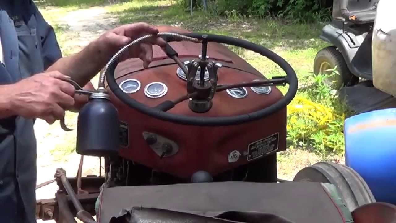 Mf 235 Steering Box : Massey ferguson steering box removal part youtube