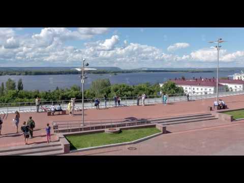 Samara Glory Square in The City of Samara on The Volga River in Russia
