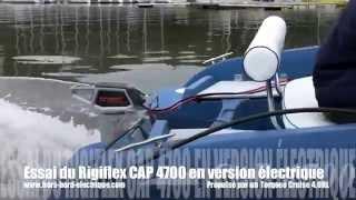 Rigiflex CAP 4700 en bateau électrique avec un Torqeedo Cruise 4.0R