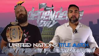 """UN Title Match: """"Mr.Awesome"""" Kyle Ferguson vs. Diego Diamond (Independence Day)"""