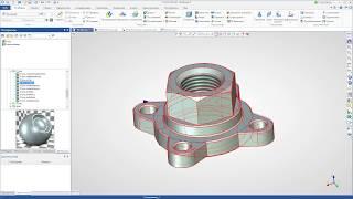 T-FLEX CAD 15 - Создание 3D модели фланца