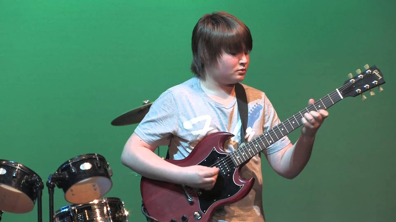 Stairway to Heaven Guitar Solo - Talent Show 2013 Wayland Union Middle School