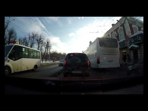 Russia, Ivanovo: Driving Downtown (4K)