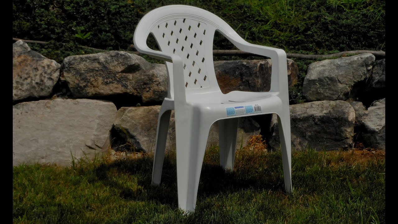Gracious living trellis resin chair basic resin chair for Chair design basics