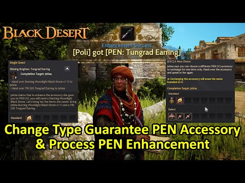Change Type Guarantee PEN Accessory & Process PEN Enhancement (Black Desert Online)