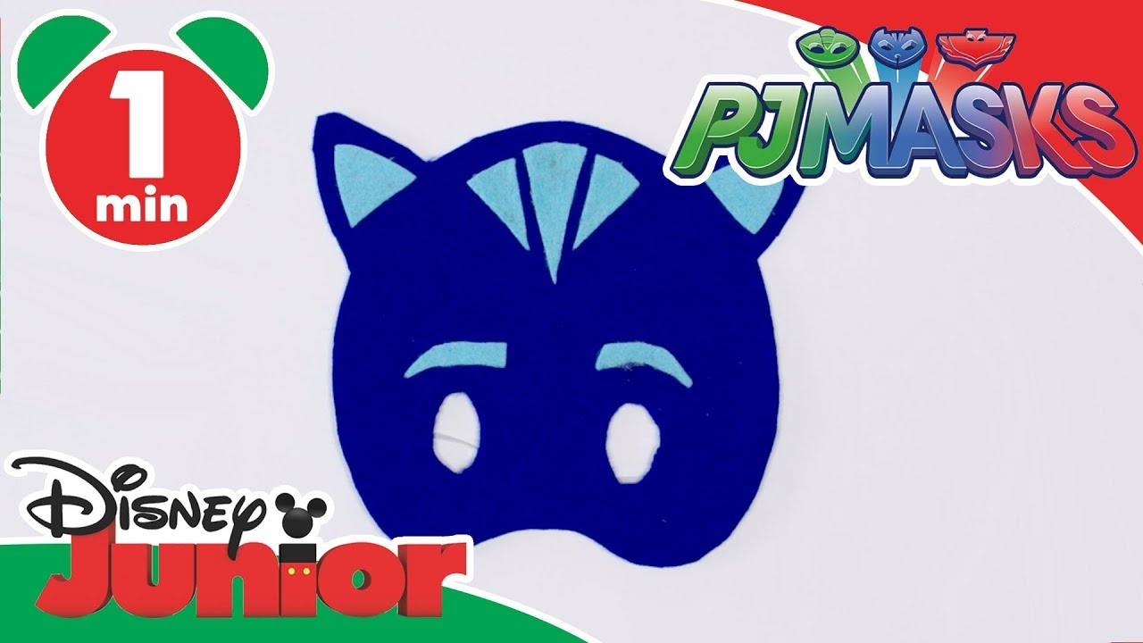 pj masks craft tutorial catboy mask disney junior uk youtube