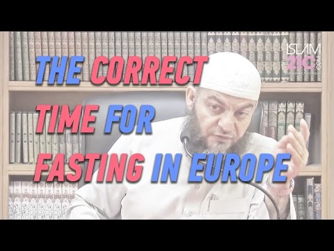 The correct time for Fajr and fasting in Europe ¦ Sh Dr Haitham al-Haddad